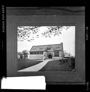 Exterior, Thomas Crane Public Library (pre-1908 from mounted print)