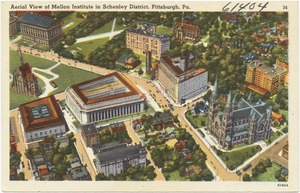 Aerial view of Mellon Institute in Schenley District, Pittsburgh, Pa.