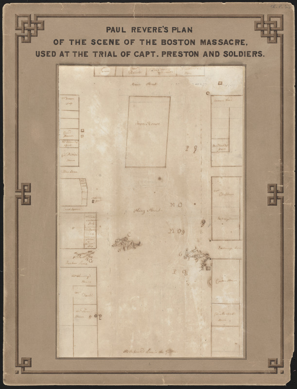 Paul Revere's plan of the scene of the Boston Massacre