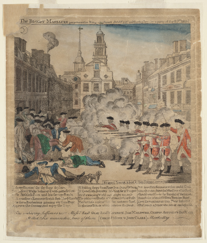 The bloody massacre perpetrated in King-Street Boston