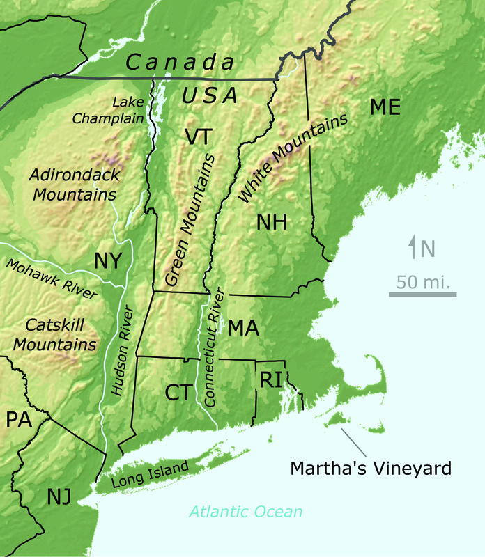 New England Topography - Digital Commonwealth