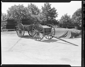 """Caisson for 3.2"""" gun, M1895 and M1897, this historic caisson used in funeral of the late Franklin Delano Roosevelt"""