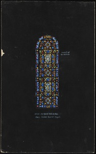 Design for typical aisle windows, Mass. General Hospital Chapel, symbol of beatitudes