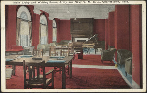 Main lobby and writing room, Army and Navy Y.M.C.A., Charlestown, Mass.