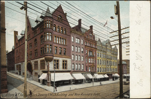 Albany, N.Y., Kenmore Block showing Y.M.C.A. building, and the new Kenmore Hotel.