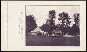 Tent of the Y.M.C.A. on N.Y. State Camp.