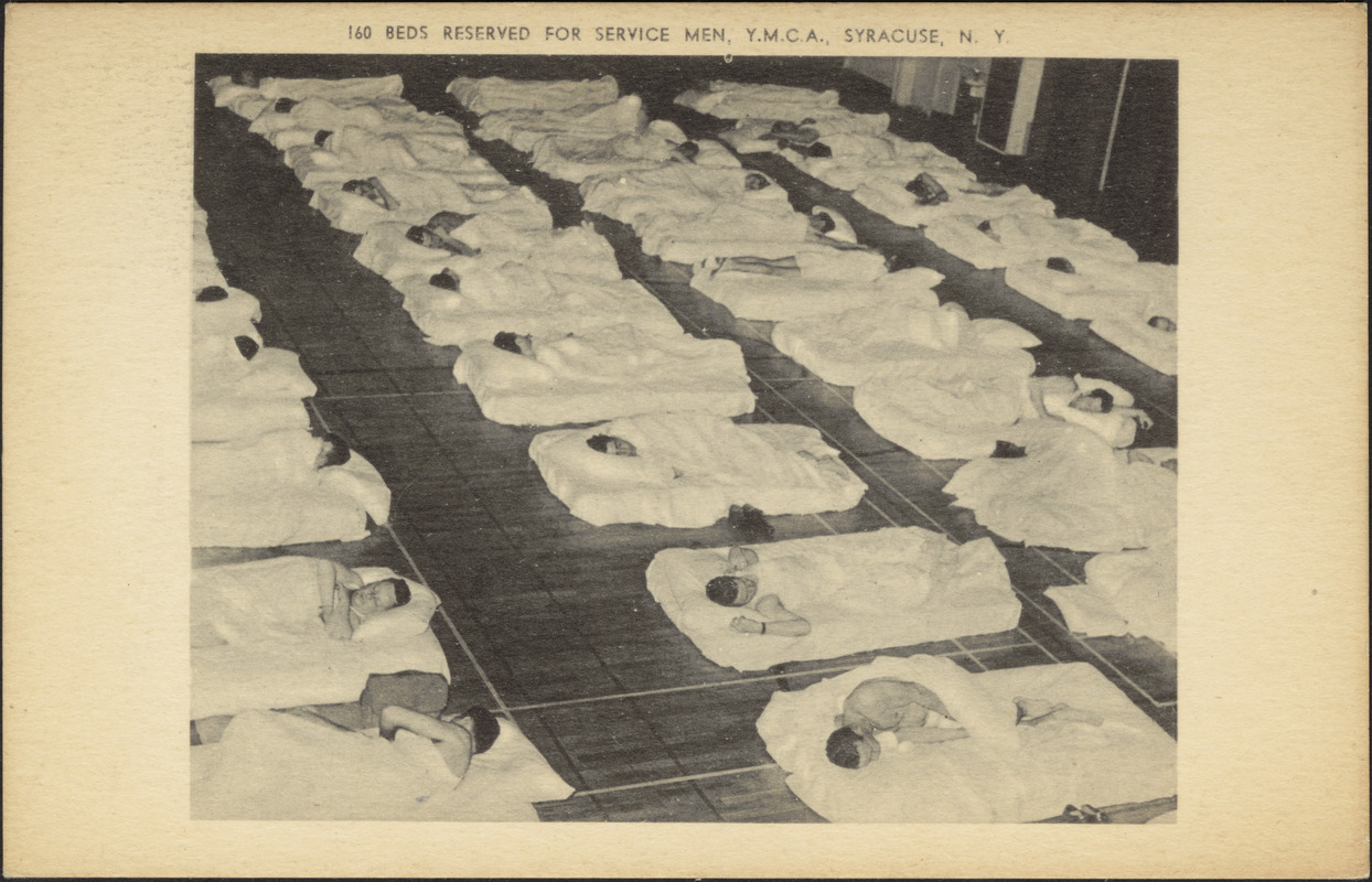 160 beds reserved for service men, Y.M.C.A., Syracuse, N.Y.