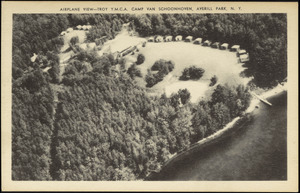Airplane view - Troy Y.M.C.A. Camp Van Schoonhoven, Averill Park, N.Y.