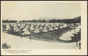 Tents State Executive Committee Y.M.C.A. State Military Camp, Peekskill, N.Y.