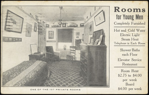 Bedford branch, Y.M.C.A. One of the 107 private rooms