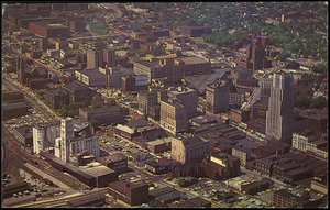 Akron, Ohio. Bird's-eye view of Akron, the rubber capital of the world