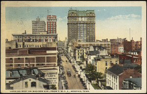 Looking west on Madison Ave., from Y.M.C.A., Memphis, Tenn.