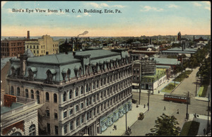 Bird's eye view from Y.M.C.A. building, Erie, Pa.