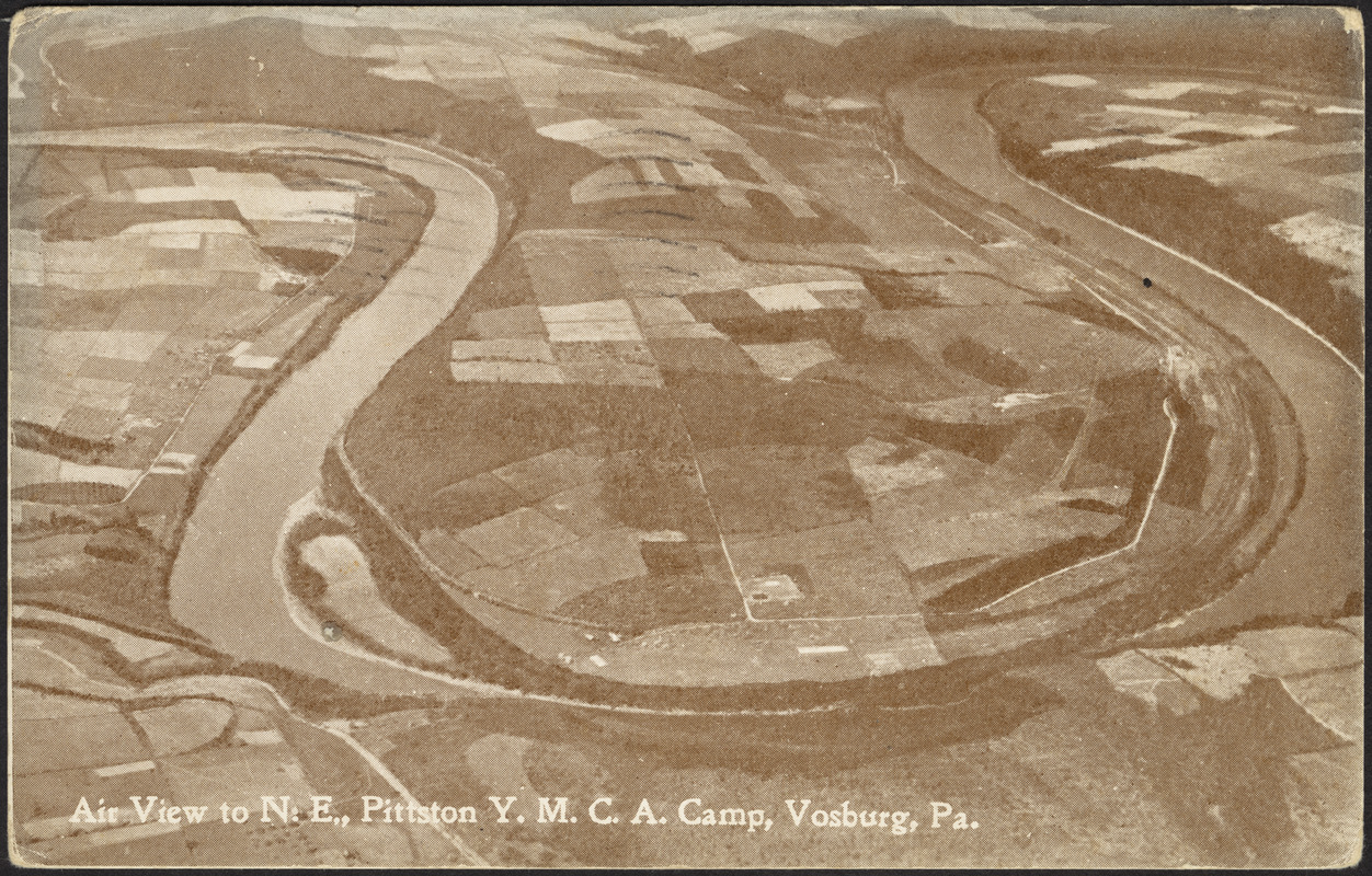 Air view of N.E., Pittston Y.M.C.A. Camp, Vosburg, Pa.