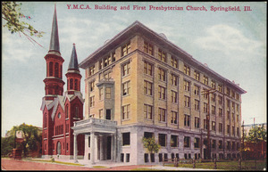 Y.M.C.A. building and First Presbyterian Church, Springfield, Ill.