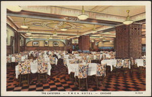 The cafeteria - YMCA Hotel - Chicago
