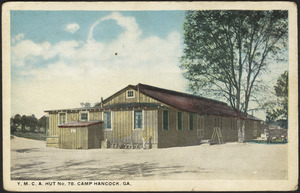 Y.M.C.A. Hut No. 78. Camp Hancock, Ga.