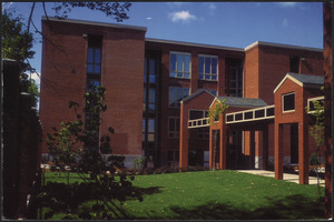 The Kakley building at the northeast corner of the campus was renovated in 1991 into the Living Center to provide residences for upperclass and graduate students