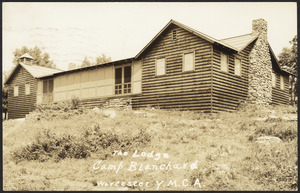 The Lodge Camp Blanchard Worcester Y.M.C.A.