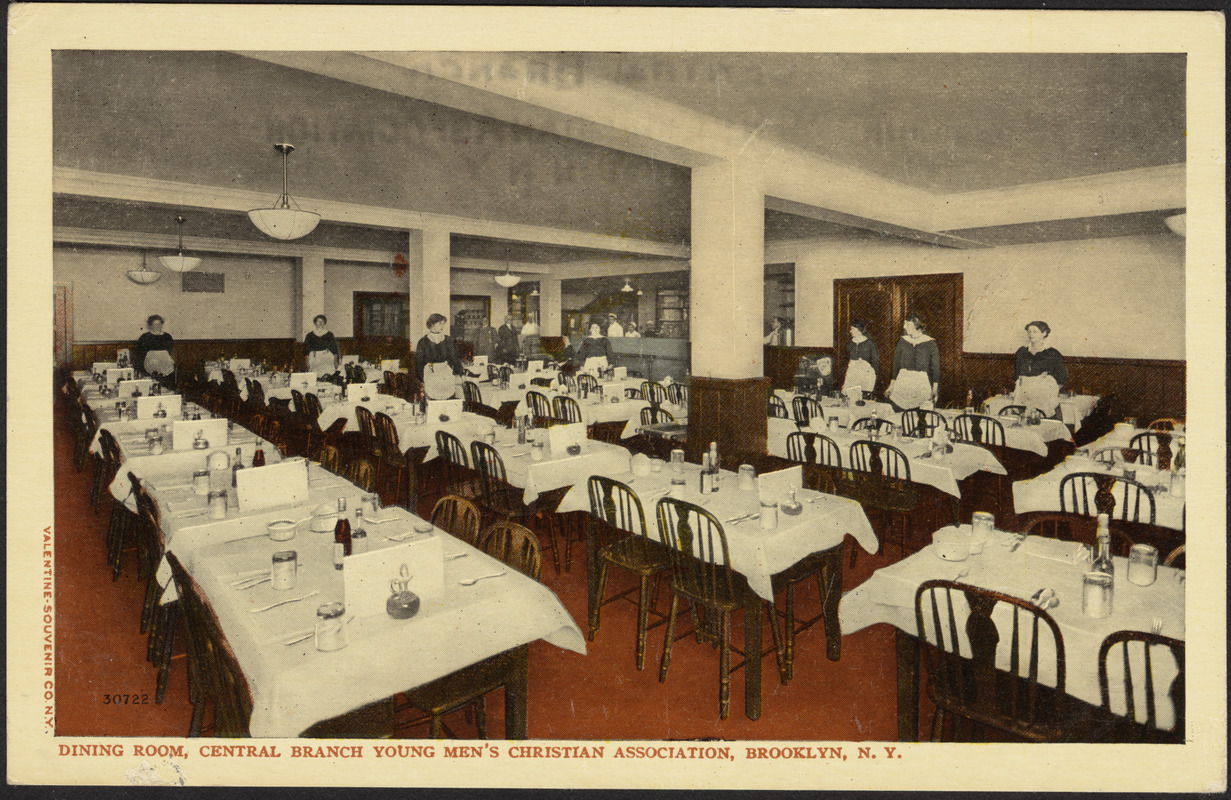 Dining Room, Central Branch Young Menu0027s Christian Association, Brooklyn, ...