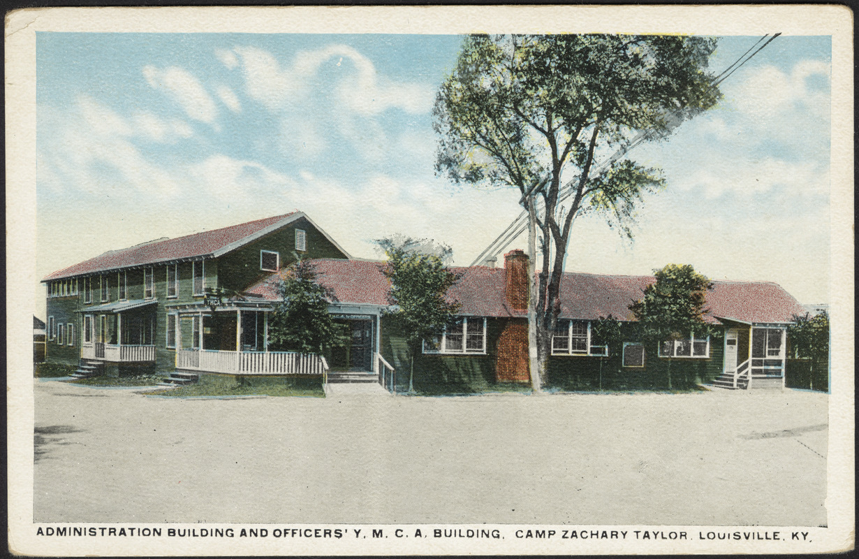 Administration building and officers' Y.M.C.A. building, Camp Zachary Taylor, Louisville, Ky.