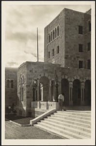 Jerusalem Y.M.C.A. - kiosk and south wing of main building