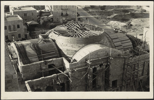 Jerusalem Y.M.C.A Auditorium during progress of construction