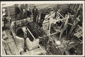 Jerusalem Y.M.C.A Reinforcing steel at observation gallery, tower