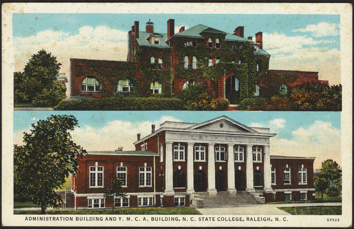 Administration building and Y.M.C.A. building, N. C. State College, Raleigh, N. C.