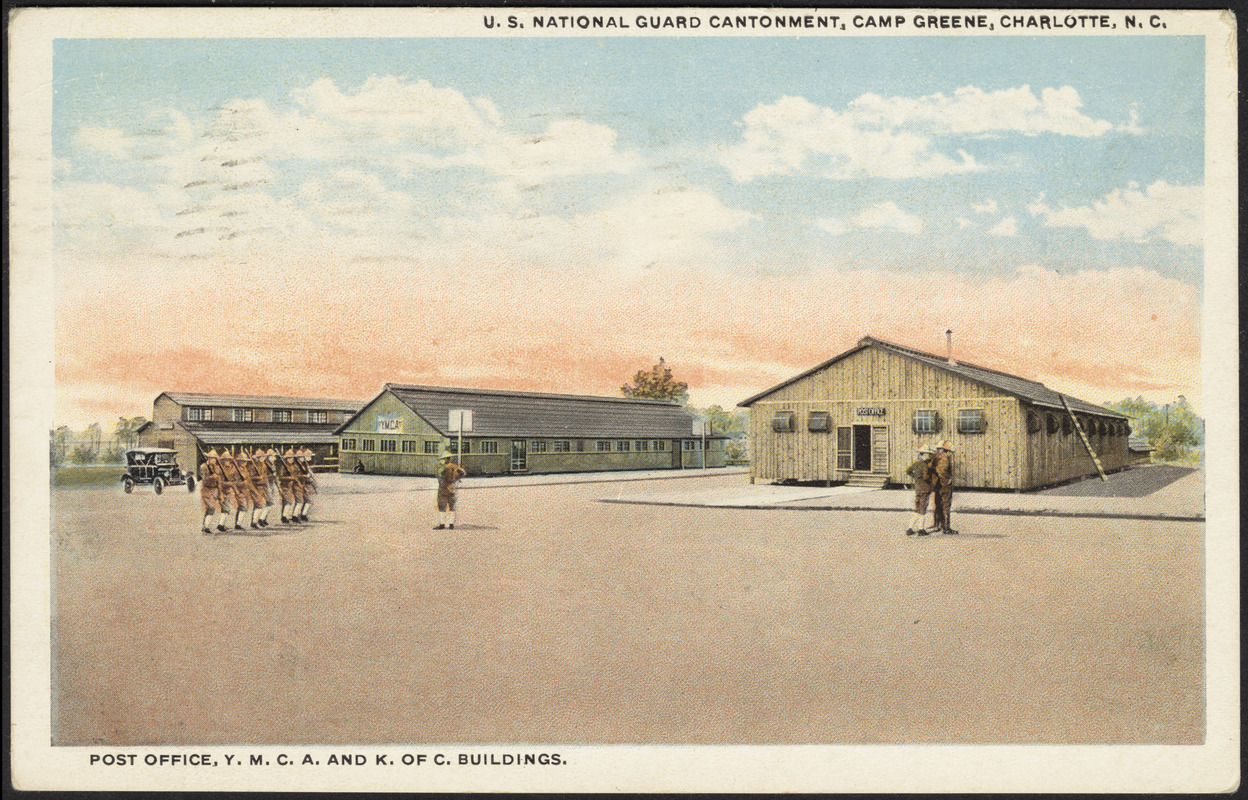 U S  National Guard Cantonment, Camp Greene, Charlotte, N C