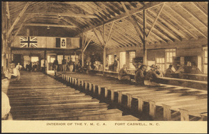 Interior of the Y.M.C.A. Fort Caswell, N.C.