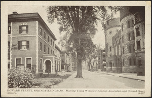 Howard Street, Springfield, Mass. Showing Young Women's Christian Association and Howard Street Armory