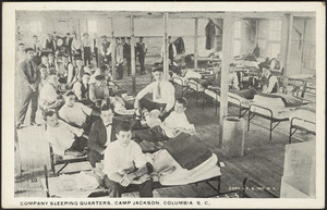 Company sleeping quarters, Camp Jackson, Columbia, S.C.