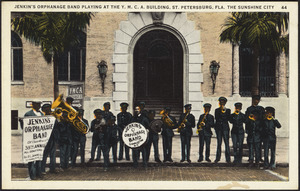 Jenkin's Orphanage Band playing at the Y.M.C.A. building, St. Petersburg, Fla. The Sunshine City