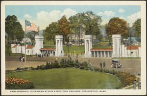 Main entrance to Eastern States Exposition Grounds, Springfield, Mass.