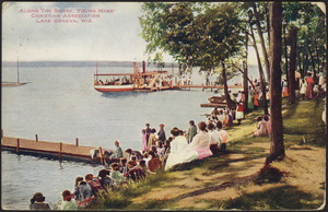 Along the shore, Young Mens' Christian Association Lake Geneva, Wis.