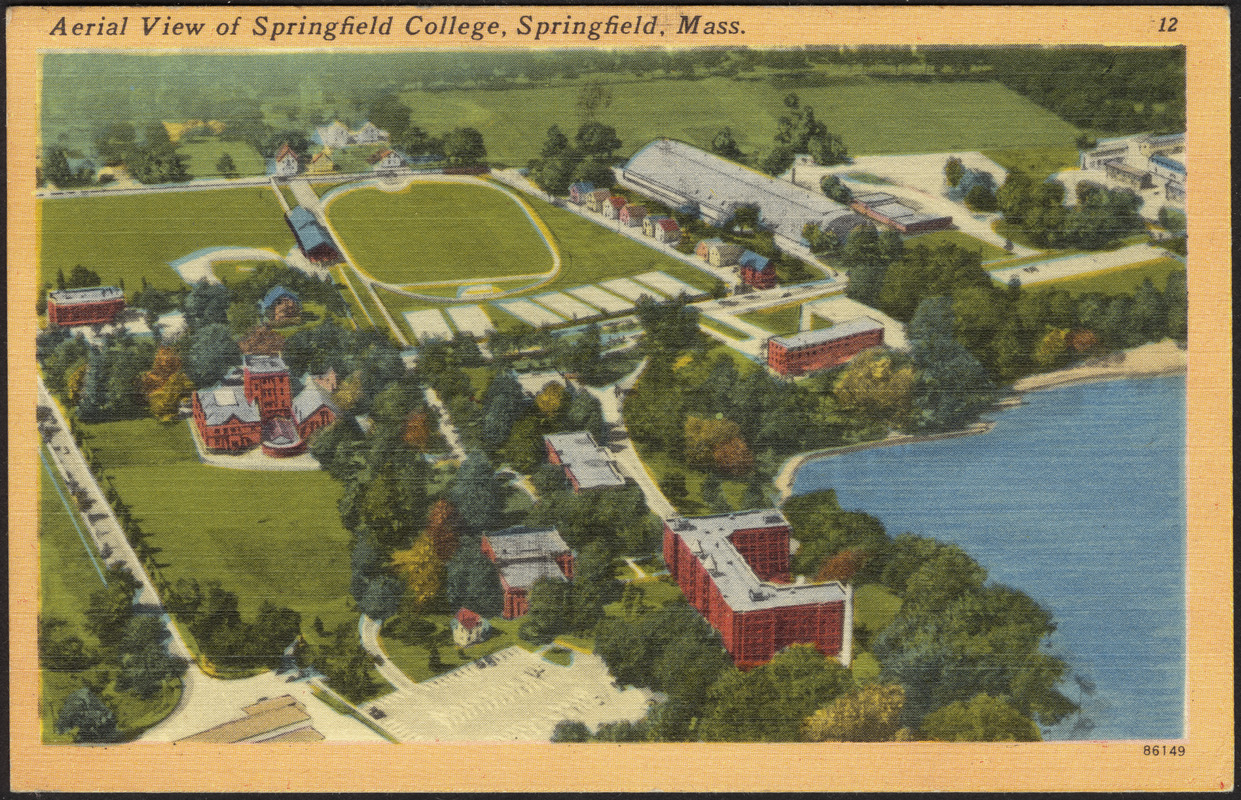 Aerial view of Springfield College, Springfield, Mass.