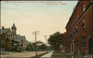 Y.M.C.A. and London Life Insurance building, Wellington Street, London, Ont. Canada