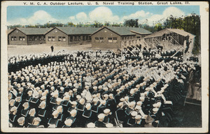 Y.M.C.A. outdoor lecture, U.S. Navel Training Station, Great Lakes, Ill.
