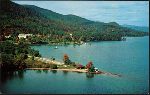 Aerial view of Lake George, New York