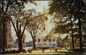 Court Square and First Congregational Church, Springfield, Mass.