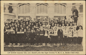 126 reasons why you should join the Ogle County Y.M.C.A. Basket Ball 1922