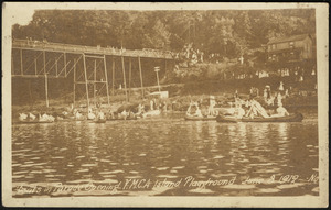 Boats in parade opening Y.M.C.A. Island Playground June 8, 1919