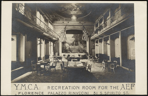 Y.M.C.A. Recreation room for the AEF
