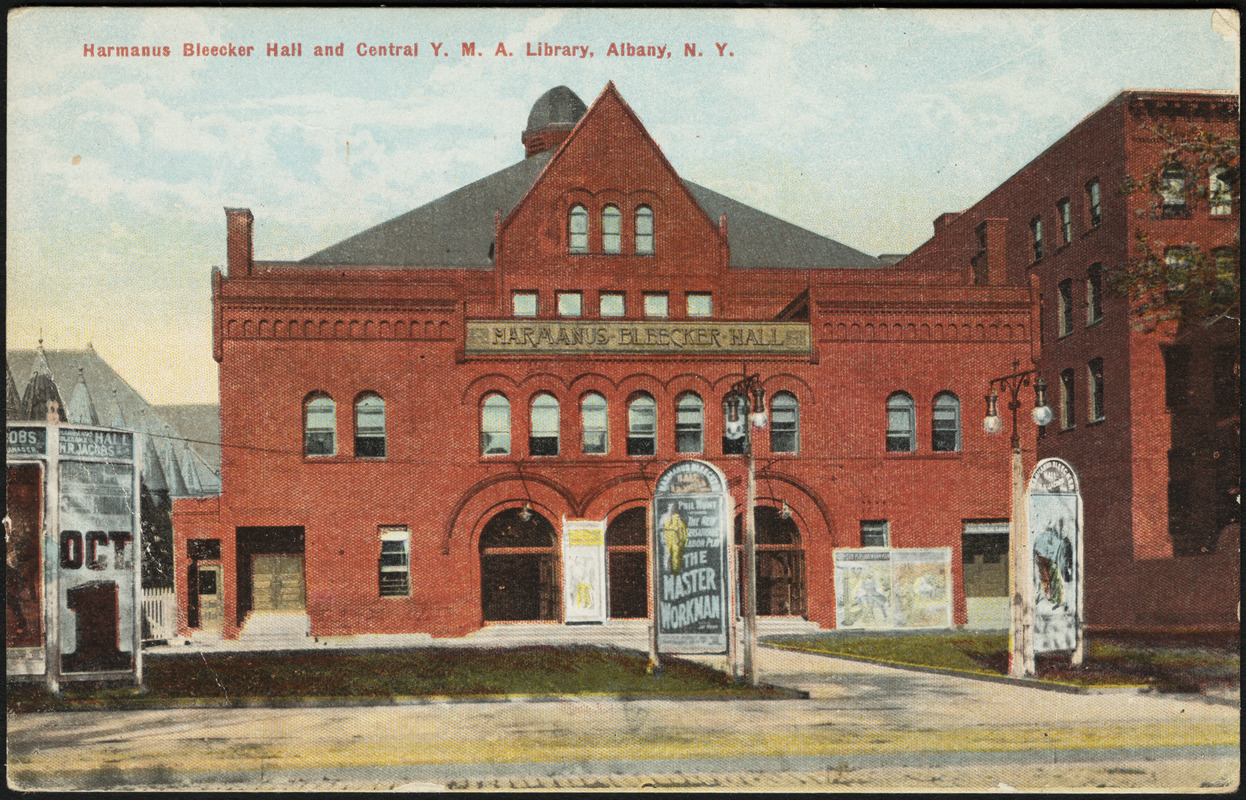 Harmanus Bleecker Hall and central Y.M.C.A. library, Albany, N.Y.