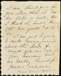 Letter from Anne Warren Weston to Samuel May, Tuesday Afternoon, July 17, [1855]