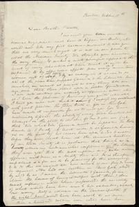 Letter from Anne Warren Weston, Boston, to Henry Brewster Stanton, October 11th [1837]