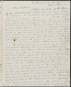 Letter from Anne Warren Weston, 31 Rivington St., New York, to Deborah Weston and Lucia Weston, May 11, 1842