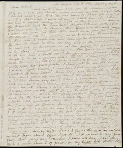 Letter from Anne Warren Weston, New Bedford, [Mass.], to Deborah Weston, Nov. 5, 1842. Saturday night