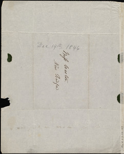 Letter from Anne Warren Weston, Weymouth, [Mass.], to Caroline Weston, Dec. 14th, 1846